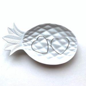 secret box Jewelry - Heart Hoop Earrings Silver